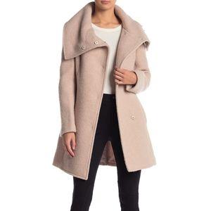 Cole Haan shawl collar wool coat light pink sz 14